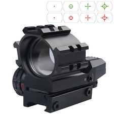 Red Green Dot Reflex Sight Scope Tactical Holographic 4 Reticles Projected New