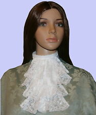 Ladies lace jabot / cravat costume Victorian Edwardian Steampunk