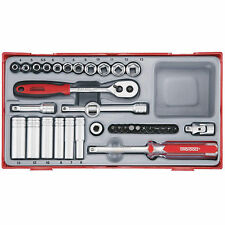Teng Tools BRAND NEW 1/4 Drive METRIC Ratchet Socket  Tool Set TT1435