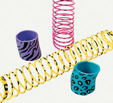 MINI PLASTIC NEON ANIMAL PRINT SPRINGS SLINKY PARTY FAVOR KIDS BIRTHDAY PARTY