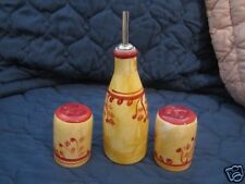 OIL BOTTLE AND SALT AND PEPPER SHAKERS FROM MAIN INGREDIENTS