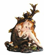 5.75 Inch Forest Fairy w/ Long Hair sleeping Statue Figurine Figure Collectible
