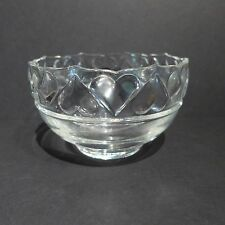 Tiffany & Co Heart Bowl Crystal Round Bowl Ring Of Hearts Valentine's Day