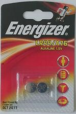 2 X ENERGIZER LR44 AG13 A76 1.5V ALKALINE BATTERIES