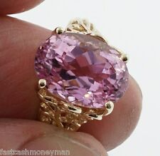 NOW LADIES 14K YELLOW GOLD 10 X 14 MM OVAL AMETHYST FILIGREE RING SIZE 7 1/4
