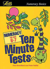 Letts Numeracy Basics Age 6-7 Ten Minute Tests (Paperback, 2000) with answers