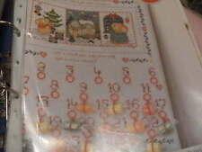 """""""noël est à venir"""" advent calendar cross stitch chart (uniquement)"""