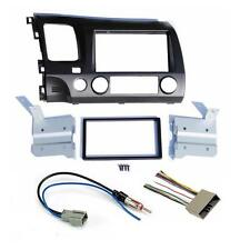 2006-11 Honda Civic Double Din Dash Radio Stereo Install Kit w/ Wiring Harness