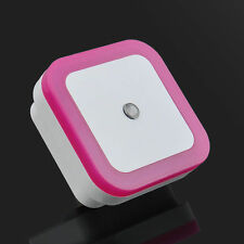 1x Pink Plug In Automatic Dusk Dawn Sensor LED Night Light, Child Room Nursery