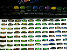 Wholesale Jewelry Lots 10pcs Stainless steel Change color mood rings FREE J25