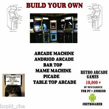 MAKE BUILD RETRO 90 GAMES ARCADE CABINET DIY PROJECT GAMES CLASSICS CONSOLE
