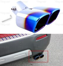 1pcs Blue Double Outlets Exhaust Muffler Tail Pipe Tip Tailpipe for VW Jetta
