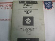 1987 DODGE CARAVAN PLYMOUTH VOYAGER BODY CHASSIS SERVICE MANUAL