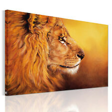 HD Canvas Prints Home Decor Wall Art Painting Picture-Wild Gold Lion Unframed