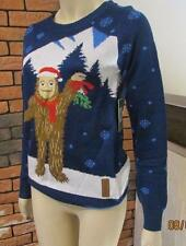 Tipsy Elves Womens Christmas Funny Jumper ROMANTIC SASQUATCH size S new  #9