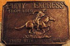 Vintage Pony Express Belt Buckle Hong Kong