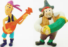SHARKY & BONES Disney JAKE & NEVER LAND PIRATES PVC TOY Figure CAKE TOPPER SET!
