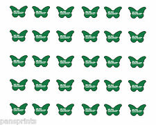30x macmillan cancer support * precut * papillon toppers comestible café matin