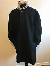 Burberry London Men's Wool Trench Dress Coat  Size XL Nova Check Free Shipping