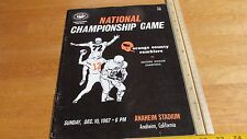 Orange County Ramblers Continental Football League 1967 National Champ Program