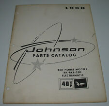 Parts Catalog Johnson Sea Horse Models RK RKL 25 D Electramatic 40 HP Stand 1963
