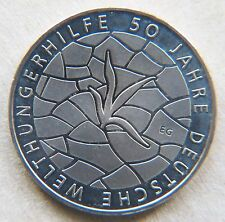 Germany 2012 €10 Euro Coin 50 Years Welthungerhilfe Famine Relief Sterl'g Silver