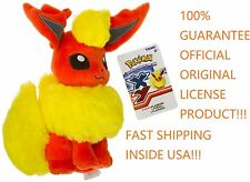 "FLAREON Eevee Pokemon Eeveelution 100% OFFICIAL TOMY Licensed 9"" Plush w/Tags"
