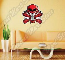 """Red Devil Evil Skull Crossbones Smiling Wall Sticker Interior Decor 22""""X22"""""""