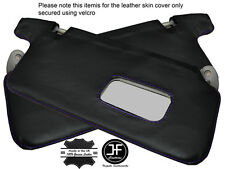 PURPLE STICH 2X SUN VISORS LEATHER COVERS FITS HONDA CIVIC EK3 EK4 EK9 EJ9 96-00
