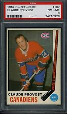 1969 O-Pee-Chee #167 Claude Provost PSA 8 NM-MT *Montreal Canadiens*