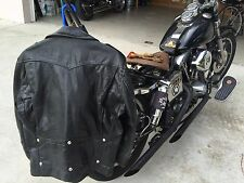 VINTAGE 60'S LEATHER MOTORCYCLE JACKET SIZE LARGE BIKER