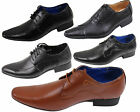 MENS SMART LACE UP WEDDING SHOES ITALIAN FORMAL OFFICE WORK CASUAL PARTY DRESS