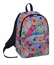 DAVID AND GOLIATH - MULTI COLOURED MONSTERS SCHOOL BACKPACK - GREY