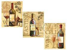 3 Wine Grape Art Prints Tuscany Posters Kitchen Decor Art Poster Print by Ron Je