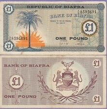Biafra 1 Pound Banknote 1967 Very Fine Condition Cat#2-5691