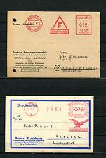 Dt. Reich, Dt. Post  zwei Maschinenstempel    (RR-44)