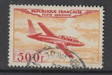 FRANCE : 1954 500f red and orange Airmail  SG 1196  used