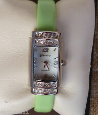 Geneva Platinum rectangular watch