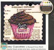 Cross Stitch Mini Kit ~ Dimensions Sweet Everyday Cupcakes Recipe #70-65123