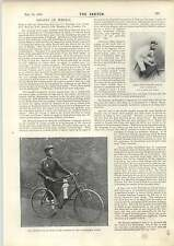 1898 Emperor Thanh Thai Bicycle Petty Ofc Duguid England Ireland Rugby Team