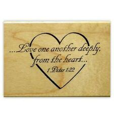 Love one another deeply mounted rubber stamp Valentines Anniversary Wedding #3