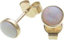 Ohrringe echt Opal Gold 585 Stecker Ohrstecker Damen Gelbgold