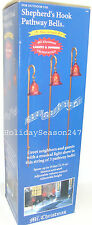 Musical Light Show SHEPHERD's HOOK PATHWAY BELLS Holiday Christmas Display Decor