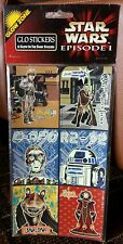 Rare Vintage Lucasfilm Star Wars Episode I Limited Glo Stickers