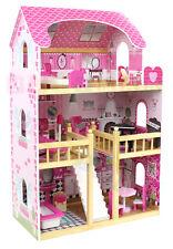 XXL GROßES PUPPENHAUS AUS HOLZ  mit Möbeln Holzspielzeug Puppe Mädchen viele El.