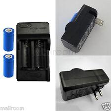 Rechargeable 4x2000mAh 16340 Li-on Batterie+CR123A Ladegerät Für taschenlampen