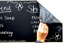 Blackboard Vinyl Self Adhesive Black Board Wall Sticker + 5 Chalks Included New