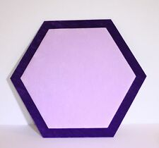 Hexagonal Jewellery Display Counter/Serving Mat Purple/lilac