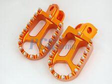 CNC RACING FOOTPEGS FOOTREST 1998-2012 KTM 65-990 Dirt Bike ORANGE P FP13