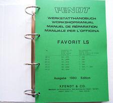 Fendt Favorit 600 LS - 615 LS Werkstatthandbuch Reparaturanleitung Schlepper